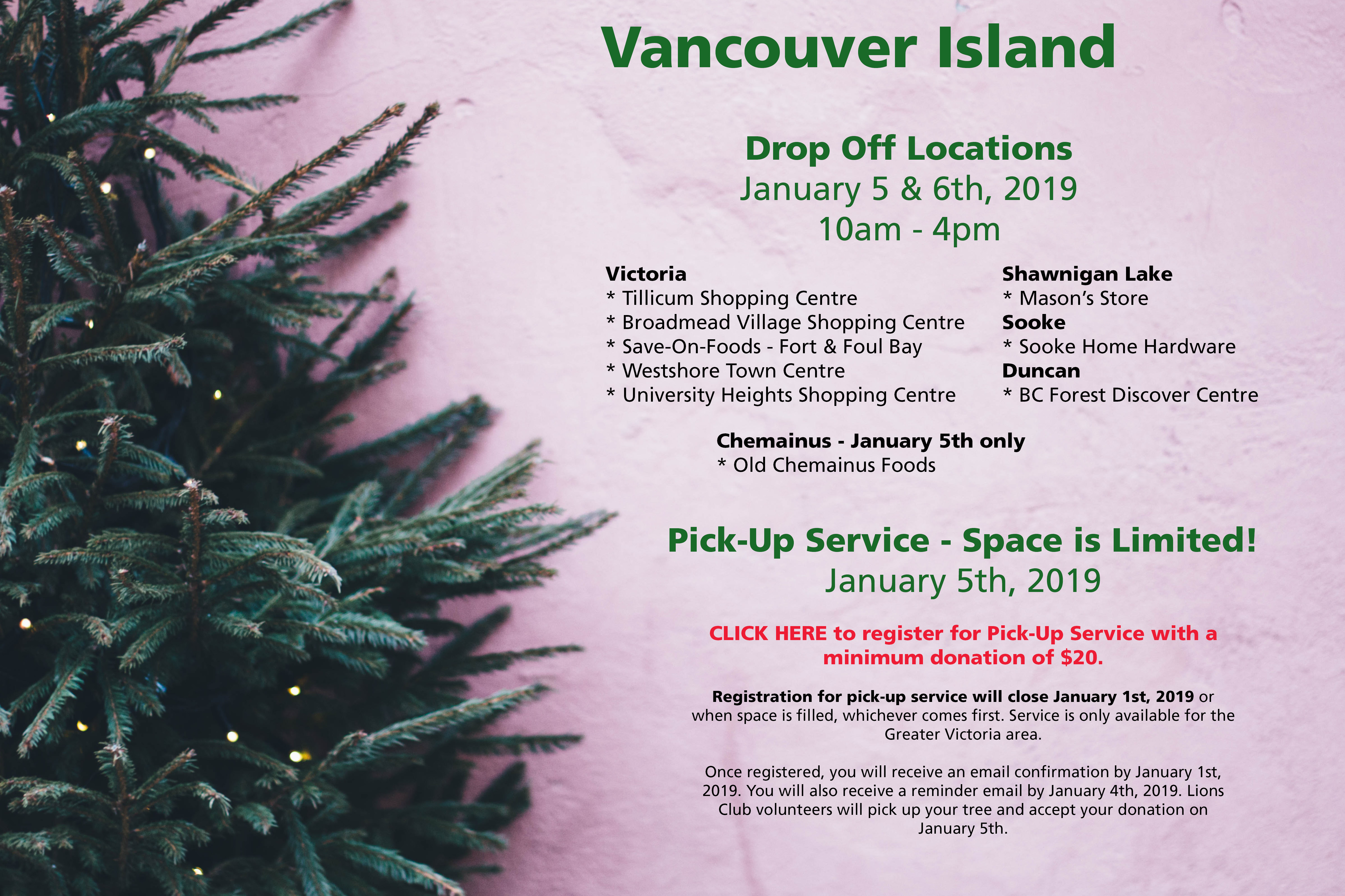 Christmas Tree Pick Up.Chip In For The Kids Easter Seals Bc And Yukon