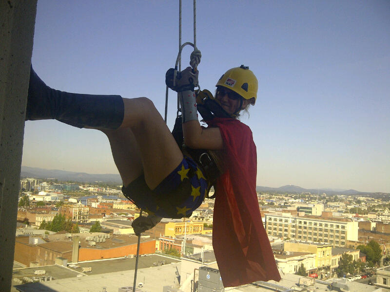 Victoria investment advisor to rappel down her office tower in support of charity event